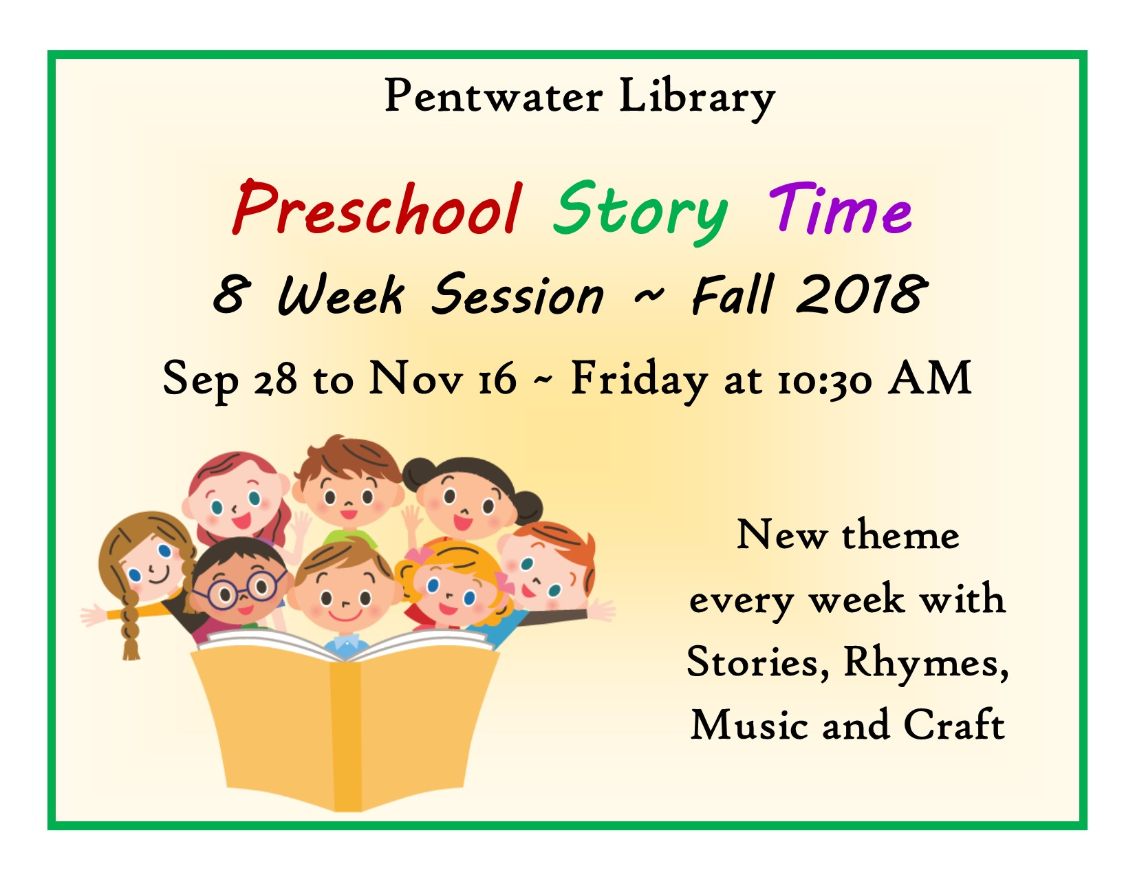 Preschool Story Time for TV FB WEB