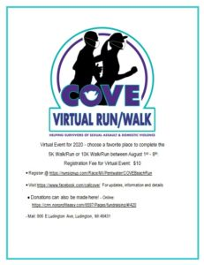 C.O.V.E.  Benefit Beach Walk/Run-  VIRTUAL @ Charles Mears State Park | Pentwater | Michigan | United States