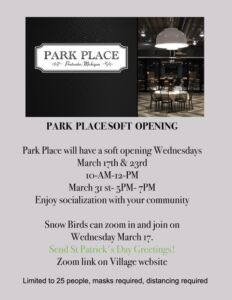 Park Place Soft Opening @ Park Place | Pentwater | Michigan | United States