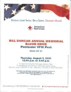 Bill Duncan Annual Memorial Blood Drive